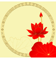 Oriental Lotus Flower Background vector image