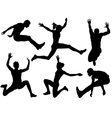 Long Jump Silhouette vector image
