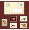 Envelope and stamps vector image vector image