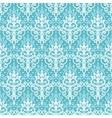 Light blue swirls damask seamless pattern vector image
