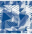 Blue geometric tiles seamless pattern single color vector image