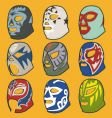 Wrestling masks vector