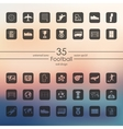 Set of football icons vector image