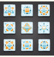 9 abstract logo shiny icons vector image