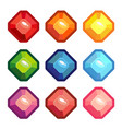 a set of colored gems vector image