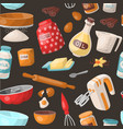 baking cooking ingredients bake making vector image