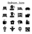 bedroom sleeping icon vector image