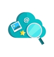 Data Protection Cloud Storage Information Search vector image