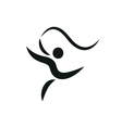 gymnastics activities icon fitness community vector image