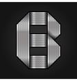 Letter metal chrome ribbon - B vector image
