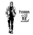 man model dressed vector image