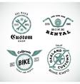 Set of Retro Bicycle Custom Labels or Logos vector image