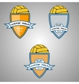 Set water polo logo for the team and the cup vector image