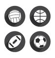 Sport balls Volleyball Basketball Soccer vector image