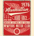 vintage man t shirt graphic design about newyork vector image