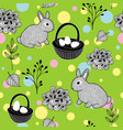 wallpaper for the easter holiday vector image