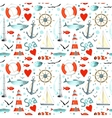 sea pattern with nautical elements vector image