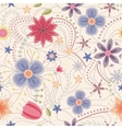 Abstract seamless pattern with flowers vintage vector image