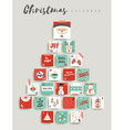 Christmas advent calendar cute ornament decoration vector image vector image