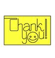 Thank you text vector image