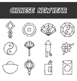 Chinese New Year flat icon set vector image