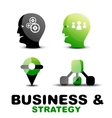 Modern business and strategy icon set vector image vector image