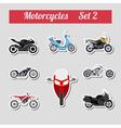 Set of elements motorcycles for creating your own vector image