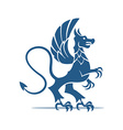 Heraldic elements dragon vector image