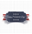 Happy Presidents Day big realistic Banner Template vector image