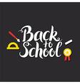 Back to School Lettering over Blackboard vector image