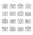 camera outline set vector image