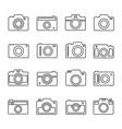 camera outline set vector image