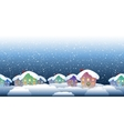 christmas village pattern vector image