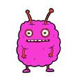 comic cartoon funny alien monster vector image