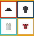 flat icon clothes set of singlet t-shirt uniform vector image