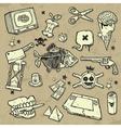 Mix of design elements vector image