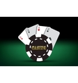 Poker cards Casino elements vector image