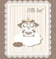 greeting panda vector image