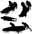 Bobsleigh Silhouette vector image