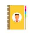 address phone book icon flat vector image