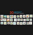mega collection of colorful technology web and vector image