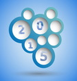 2015 with abstract blue speech bubble background vector image