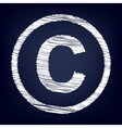 Copyright sign Flat style icon vector image