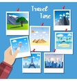 flat design for photos of traveling concept vector image