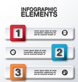 abstract 3d business infographic vector image