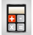 calculator icon with gray buttons vector image