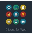Icons for Web and Mobile Applications vector image