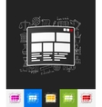 interface paper sticker with hand drawn elements vector image