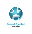 Round icon vector image