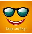 Smiley face Yellow smile poster vector image vector image